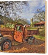 The Resting Place 2 Farm Life 1947 Dodge Dump Truck Art Wood Print