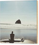 The Resting Surfer Wood Print