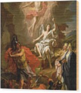 The Resurrection Of Christ Wood Print by Noel Coypel