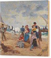 The Return Of Fishermen Wood Print