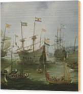 The Return To Amsterdam Of The Second Expedition To The East Indies Wood Print