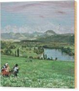 The Rhine Near Sakingen Wood Print