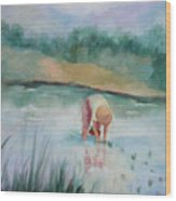 The Rice Planter Wood Print