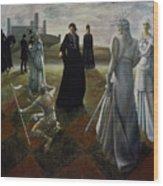 The Ringer Wood Print by Jane Whiting Chrzanoska