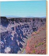 The Rio Grande Gorge Wood Print