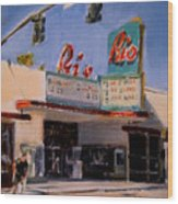 The Rio Theater Wood Print