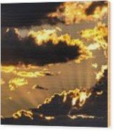 The Rising Of The Setting Sun Wood Print