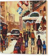 The Ritz Carlton Montreal Streetscene Wood Print