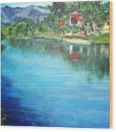 the river Adda Wood Print