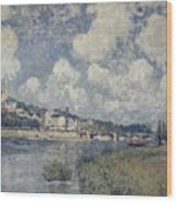 The River At Saint Cloud Wood Print
