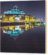 The River Liffey Night Romance 2 Wood Print