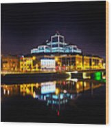 The River Liffey Reflections 2 Wood Print