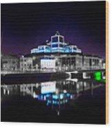 The River Liffey Reflections 2 V2 Wood Print