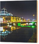 The River Liffey Reflections 3 Wood Print