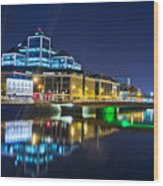 The River Liffey Reflections 4 Wood Print