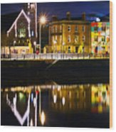 The River Liffey Reflections Wood Print