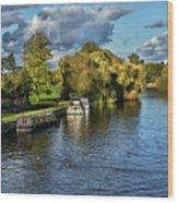 The River Thames At Wallingford Wood Print