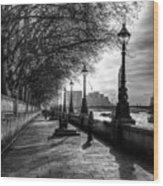 The River Thames Path Wood Print