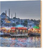 The Riverboats Of Istanbul Wood Print