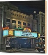 The Riveria Theater Wood Print