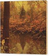 The River's Echo Wood Print
