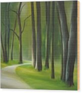 The Riverwalk Wood Print
