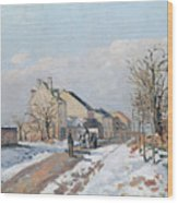 The Road From Gisors To Pontoise Wood Print by Camille Pissarro