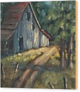 The Road Leads Home Wood Print
