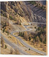 The Road To Izoard Pass - 2 - French Alps Wood Print