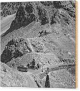 The Road To Ladakh Bw Wood Print