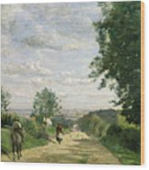 The Road To Sevres Wood Print