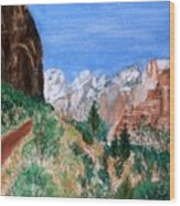 The Road To Zion Wood Print