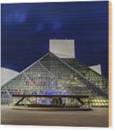 The Rock And Roll Hall Of Fame At Dusk Wood Print