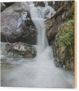 the Rock Falls Wood Print