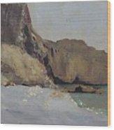 The Rocks At Vallieres Wood Print