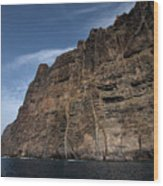 The Rocks Of Los Gigantes 1 Wood Print