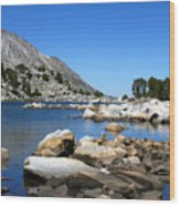 The Rocks Of Treasure Lake Wood Print