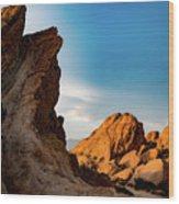 The Rocks Of Vasquez Wood Print