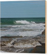The Rocky Shore Wood Print