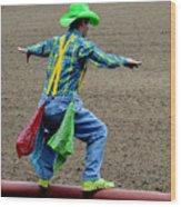 The Rodeo Clown Wood Print
