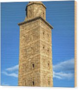 The Roman Lighthouse Known As Tower Of Hercules Wood Print