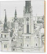 The Roofs Of Novi Sad Wood Print