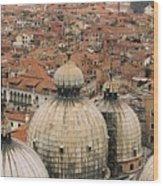 The Roofs Of Venice Wood Print