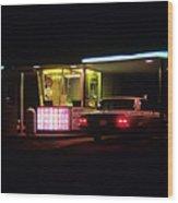 The Roosevelt Drive Inn Wood Print by Corky Willis Atlanta Photography