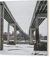 The Roosevelt Expressway Bridges Wood Print