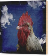 The Rooster Wood Print