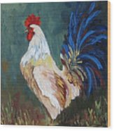 The Rooster Iv  Wood Print