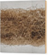 The Roots Of This Indian Grass Reached Wood Print