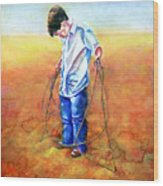 The Roping Lesson Wood Print
