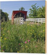 The Roseman Bridge In Madison County Iowa Wood Print